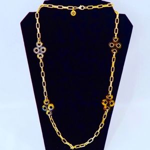 TORY BURCH~clover station~LOGO CHAIN NECKLACE